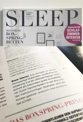 BRUNO - Bruno im SLEEP Magazin