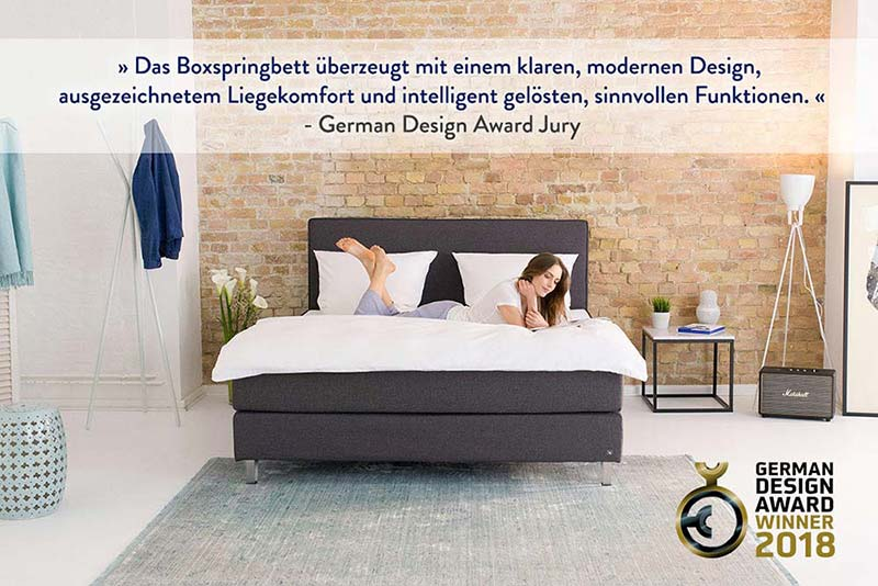 Boxspringbett design  Bruno Boxspringbett - Gewinner des German Design Awards 2018 | Bruno®